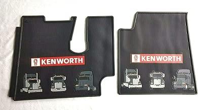 Kenworth T600 660 800 & W900 OEM Black Rubber Floor Mats w/Truck Logo Fits 2005-2017