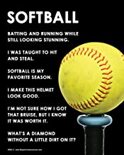 """Posters and Prints by Magnetic Impressions Unframed Softball Bat 8"""" x 10"""" Poster Print"""
