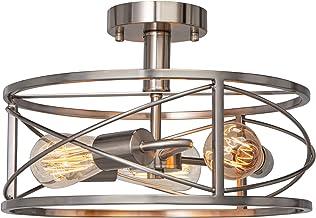 FIMITECH Semi-Flush Mount Ceiling Light, 3-Light Vintage Close to Ceiling Lamp, Ceiling Lights Pendant Lighting Fixtures f...