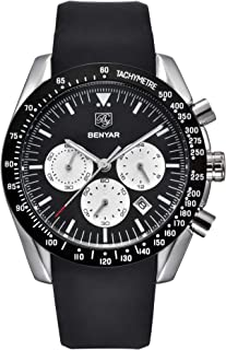 BENYAR Mens Watches Waterproof Chronograph Analog Quartz...