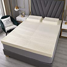 7.5cm Thick Latex Mattress Topper, Extra-Large Medium Hardness, Cool, Breathable, Independent Sleep, Premium Mattress with...