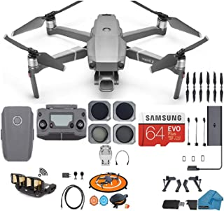 DJI Mavic 2 PRO Drone Quadcopter, with ND, Cpl Lens Filters, 64GB SD Card, with Hasselblad Video Camera Gimbal Bundle Kit ...