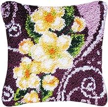 Borduurwerk Latch Hook Kits DIY Flower Kussen Maken Kits Kussensloop Borduurwerk Kruissteek Kunst Craft voor Volwassenen B...