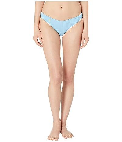 Polo Ralph Lauren Ribbed Modern Solids Rib V-Pant Bottoms (Blue Crush) Women