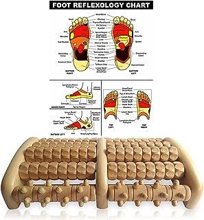 Jaxbo Foot Massager Roller Plantar Fasciitis - Wooden Foot Massager Roller Relieve Plantar Fasciitis, Stress, Heel, Arch Pain
