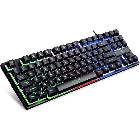 Evo Fox (by Amkette) Fireblade Gaming Wired Keyboard with LED Backlit, 19 Anti-Ghosting Keys and Windows Lock Key (TKL) (Black)