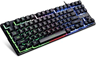 Evo Fox (by Amkette) Fireblade Gaming Wired Keyboard with LED Backlit, 19 Anti-Ghosting Keys and Windows Lock Key (TKL) (B...