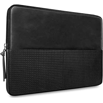 """CAISON Genuine Leather Laptop Case Sleeve for 2019 New 16 inch MacBook Pro / 15"""" Microsoft Surface Laptop 3 / Surface Book 2 / Dell XPS 15/15,6"""" HP Pavilion Envy Spectre 15"""