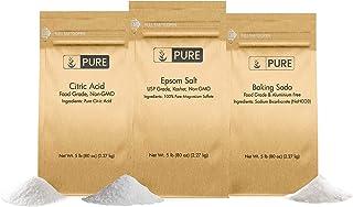 Pure Baking Soda, Citric Acid, and Epson Salt Bundle