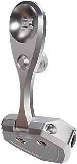 PTM Edge ZXR-200 Windshield Mounted Pivoting Mirror Bracket - ElectroBright Aluminum