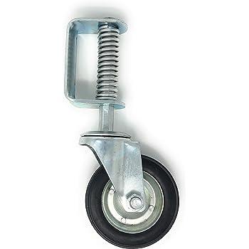 4Gate Caster 220lbs Rotating Gate Wheel Swivel Spring for Heavy Loads