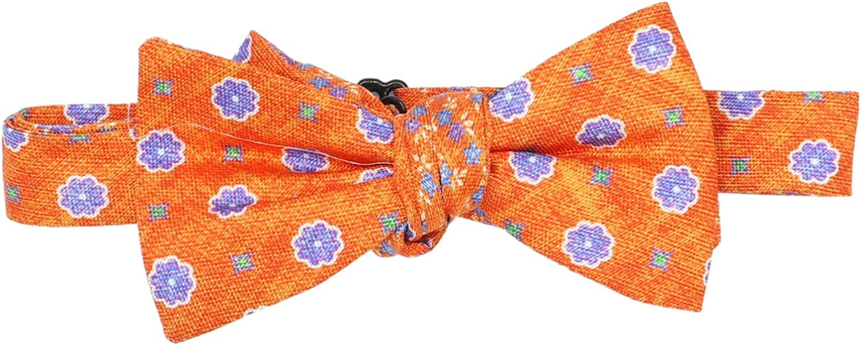 Edward Armah Men's Silk Floral Hook Bow Tie