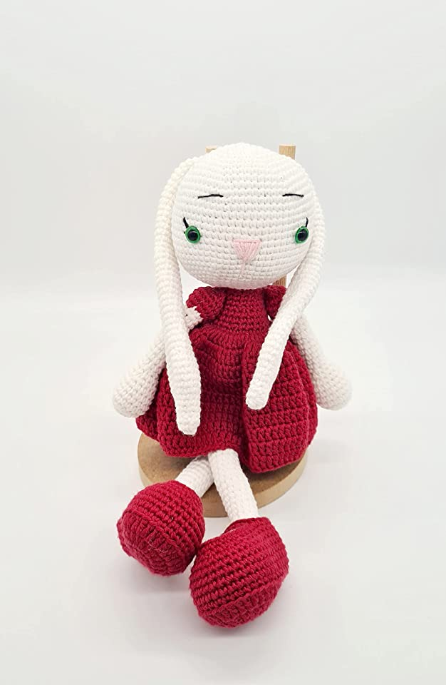 Ideemax Amigurumi Bunny Lissi / kuschelige Spielzeug / Baumwollgarn / Schlaf Freundin / geschenke für kinder / Geschenk zur Geburt - Taufe - baby shower