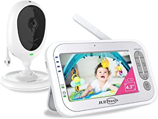 """LBtech Video Baby Monitor with One Camera and 4.3"""" LCD,Auto Night Vision,Two-Way Talkback,Temperature Detection,Power Savi..."""