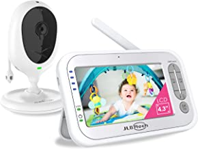"""JLB7tech Video Baby Monitor with One Camera and 4.3"""" LCD,Auto Night Vision,Two-Way Talkback,Temperature Detection,Power Sa..."""