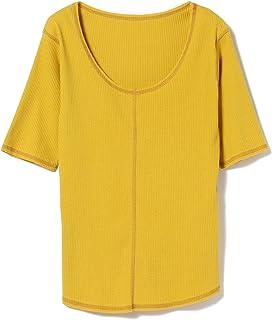 (レイビームス)Ray BEAMS/Tシャツ/リブ センターシーム ラウンドネック Tシャツ レディース