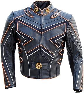 coolhides Men's Xmen Motorcycle Leather Jacket