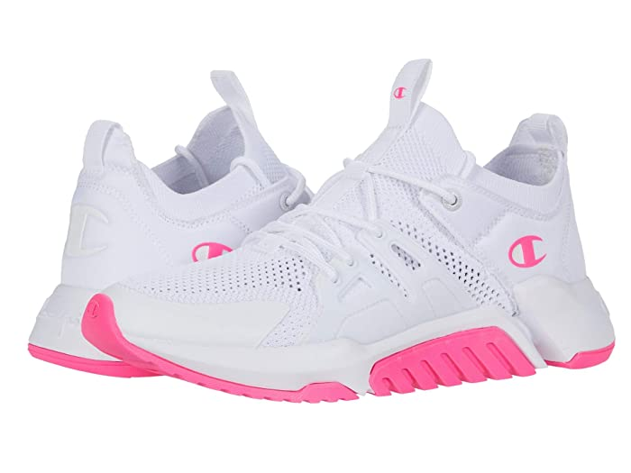 Champion  D1 (White/B.Pink) Womens Shoes