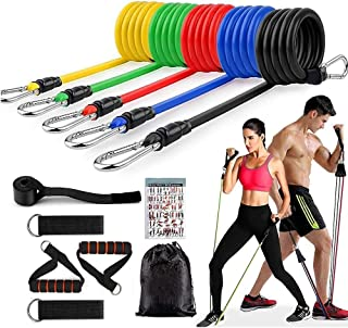 GOCART WITH G LOGO Resistance Bands, Exercise Bands Include 5 Different Levels Exercise Bands, Door Anchor, Foam Handles, ...