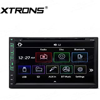 XTRONS 6.95 inch Double Din 2 Din Touch Display Car CD DVD Player Stereo Radio with Bluetooth USB SD Supports Full RCA Output