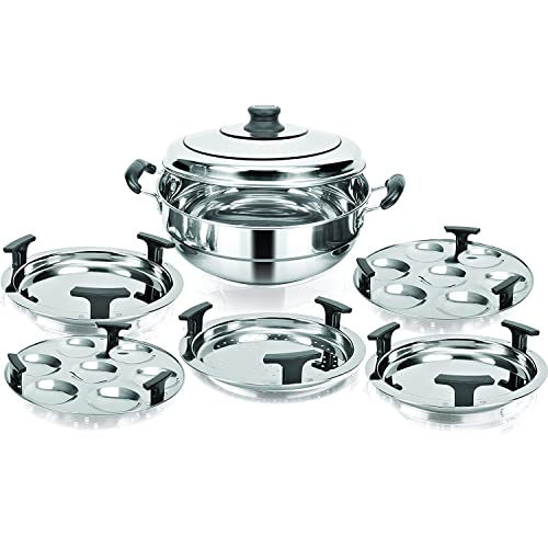 Kitchen Essentials Induction Steamer Cooker Kadai(2idli,2Dhokla,1PatraPlate)