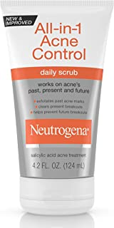 Neutrogena All-In-1 Acne Control Daily Face Scrub to Exfoliate and Treat Acne, Salicylic Acid Acne Treatment, 4.2 Fl Oz, Pack of 3