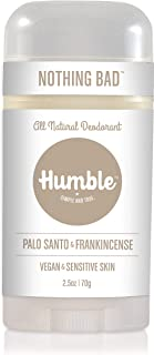 Humble Brands All Natural Vegan Aluminum Free Deodorant Stick for Sensitive Skin, Lasts All Day, Safe, and Certified Cruel...