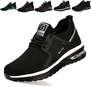 Safety Trainers Men Women Light Safety Shoes Steel Toe Cap Work Trainers Shoes Sneakers Breathable Industrial & Constructi...
