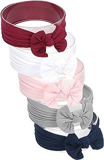 Hocaies Vendas del bebé Hairband de los bebés recién Nacidos Diademas de bebé anchas con lazo Diadema Elástica Niñas Banda...