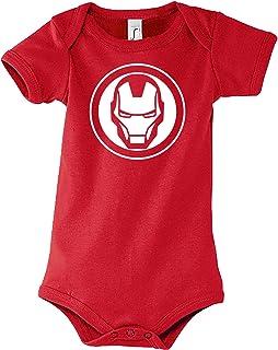 TRVPPY Baby Jungen & Mädchen Kurzarm Body Strampler Modell Ironman, Größe 3-24 Monate in vielen Farben