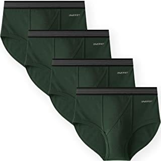INNERSY Mens Underwear Open Fly Pouch N-Front Briefs Stretchy Cotton Underpants Multipack 4