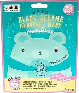 Jiinju Beauty Korean Revitalizing Black Sesame Hydrogel Face Mask, Single