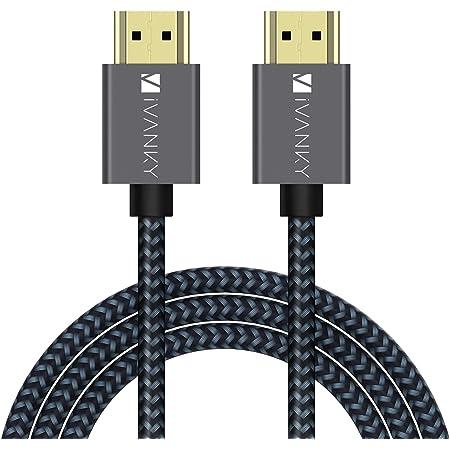【3M/10ft】iVANKY Cavo HDMI 4K Ultra HD, HDMI 2.0 - Supporta 4K 60Hz HDR 2.0 | 1.4a, Ultra HD, Cavetto HDMI ad alta velocità in Nylon Compatibile con Blu-Ray, PS3/4,Xbox,HDTV - Nero