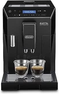 Delonghi super-automatic espresso coffee machine with an adjustable grinder, double boiler, milk frothermaker for brewing espresso, cappuccino, latte, macchiato & Flat white. ECAM44660B Eletta