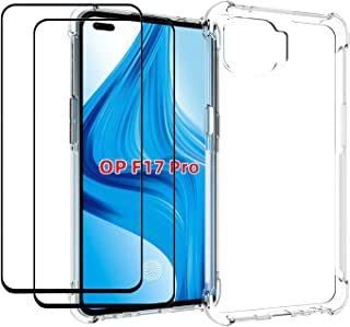EasyLifeGo for Oppo A93 / Oppo F17 Pro/Oppo Reno4 Lite Case with Tempered Glass (2 Pieces) Slim Shock Absorption TPU Soft ...