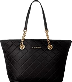 Dressy Nylon Quilted Tote