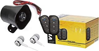 Viper 3-Channel 1-way Car Alarm Security System w/ Keyless Entry, Dual Zone Shock Sensor, Two 4-Button Remotes and Control Center / Free Alphasonik Earbuds