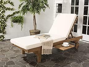 Safavieh Newport Chaise Lounge Chair, Natural/Beige