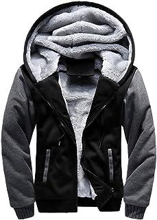 Men's Coats for Mens M-5XL Hoodie Winter Warm Fleece Zipper Coat,Parka