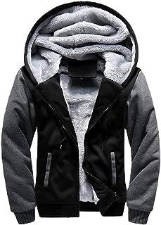 Men's Coat, FORUU M-5XL Hoodie Winter Warm Fleece Zipper Jacket Outwear