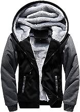 Lovor Mens Pullover Winter Hooed Zip Up Jackets Fleece Hoodies Sweatshirt Wool Warm Thick Coats