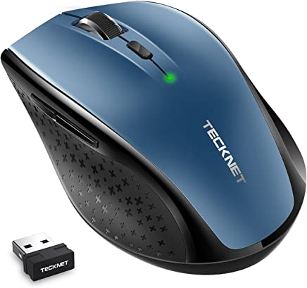 d5ad939731c Tecknet M002 Wireless Mouse Grey Wireless Optical Mouse Price in ...