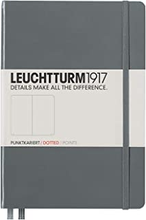 Leuchtturm1917 Medium A5 Dotted Hardcover Notebook (Anthracite) - 249 Numbered Pages