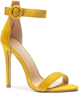 413eb232a69 Herstyle Charming Women s Open Toe Ankle Strap Stiletto Heel Dress Sandals  Elegant Wedding Party Shoes