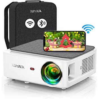 YABER V6 WiFi Bluetooth Projector 7500L Full HD Native 1920×1080P Projector, 4P/4D Keystone Support 4k&Zoom, Portable Wireless LCD LED Home&Outdoor Video Projector for iOS/Android/PS4/PPT