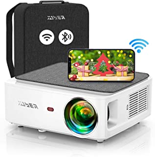 YABER V6 WiFi Bluetooth Projector 8500L Upgrade Full HD Native 1920×1080P Projector, 4P/4D Keystone Support 4k&Zoom, Porta...