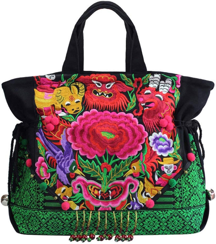 Ethno Style Umhängetasche Messenger Messenger Messenger Bag Canvas B07H7JZYDY  Ästhetisches Aussehen e871cd