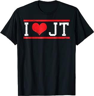 I Love JT Heart Funny JT Gift T-Shirt