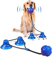 Double Suction Cup Rope Puzzle Toy Pet Molar Bite with Suction Cup Pet Molar Bite Toy Cleaning Teeth Safety Pets Supplies with Improves Oral Health and Food Dispensing Features Molar Training
