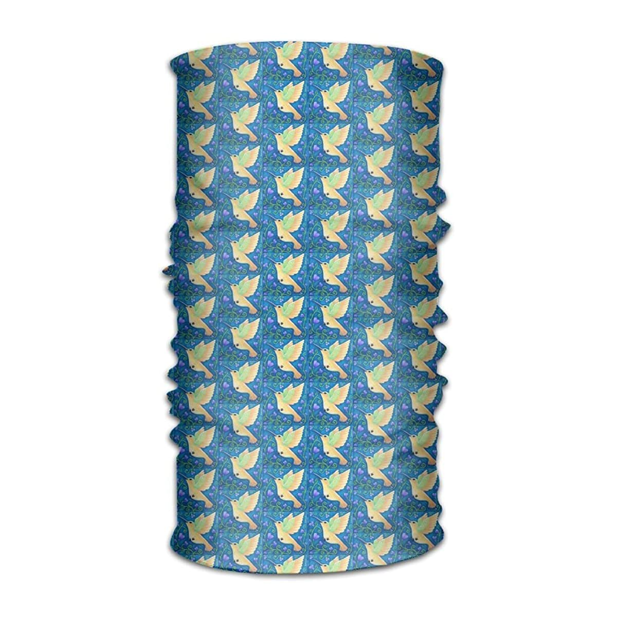 Bing4Bing Unisex Bandanas Balaclava Cap Turban Headscarf Sweatband Headwear Headscarf Hummingbird